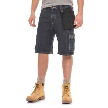 Carhartt Emea Multi-Pocket Denim Shorts (For Men) in Weathered Indigo - Closeouts