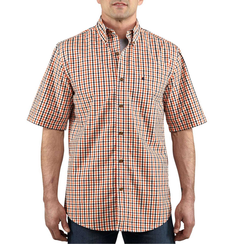Carhartt Essential Plaid Shirt Button Collar Short