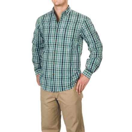 Carhartt Essential Plaid Shirt - Long Sleeve, Factory Seconds (For Men) in Steel Blue - 2nds