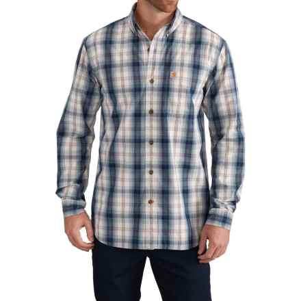 Carhartt Essential Plaid Shirt - Long Sleeve (For Men) in Stream Blue - Closeouts