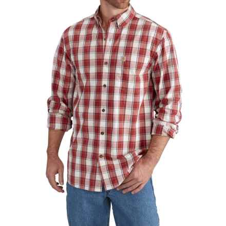 Carhartt Essential Plaid Shirt - Relaxed Fit, Long Sleeve (For Big and Tall Men) in Chili - Closeouts