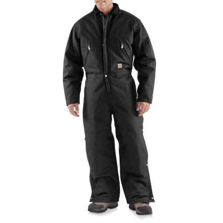 Carhartt Extremes® Zip Front Coveralls - Insulated, Factory Seconds (For Big and Tall Men) in Black - 2nds