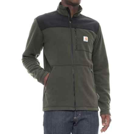 Carhartt Fallon Sweater Fleece Jacket (For Men) in Olive - Closeouts