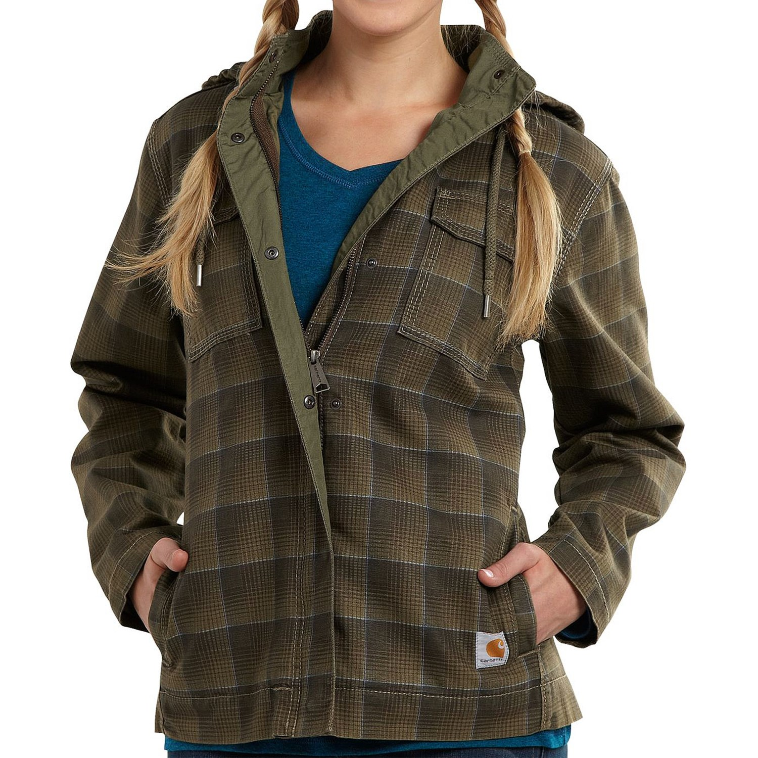 Carhartt Fargo Canvas Jacket - Insulated (For Women) in Army Green