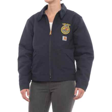 Carhartt FFA Detroit Jacket - Factory Seconds (For Women) in Midnight - 2nds