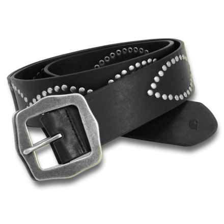 Carhartt Figure Eight Belt - Leather (For Women) in Black - Closeouts