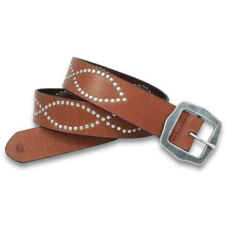 Carhartt Figure Eight Belt - Leather (For Women) in Tan - Closeouts