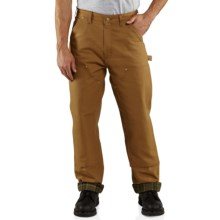 Carhartt Firm-Duck Double-Front Dungarees - Flannel-Lined (For Men) in Carhartt Brown - 2nds