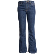 Carhartt Five-Pocket Jeans (For Little Girls) in Medium Wash - Closeouts