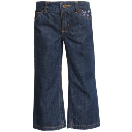 Carhartt Five-Pocket Jeans (For Toddler Girls) in Dark Blue