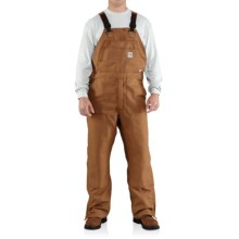 Carhartt Flame-Resistant Canvas Bib Overalls (For Big and Tall Men) in Carhartt Brown - Closeouts