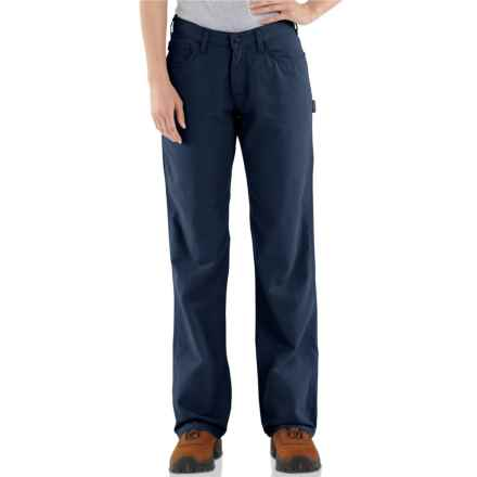 Carhartt Flame-Resistant Canvas Jeans - Loose Fit, Factory Seconds (For Women) in Dark Navy - 2nds