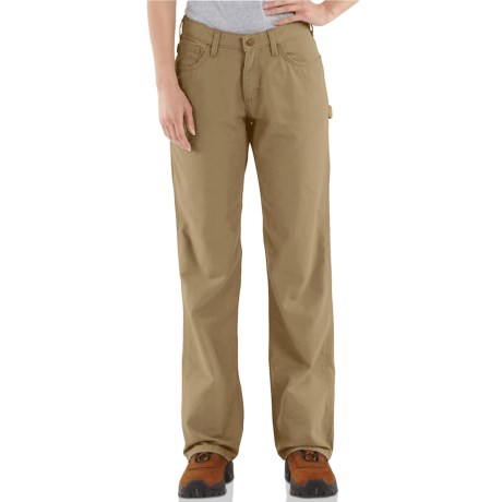 Carhartt Flame-Resistant Canvas Jeans - Loose Fit, Factory Seconds (For Women) in Golden Khaki