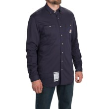 Carhartt Flame-Resistant Carhartt Force® Shirt - Long Sleeve (For Big and Tall Men) in Dark Navy - 2nds