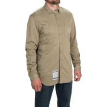Carhartt Flame-Resistant Carhartt Force® Shirt - Long Sleeve (For Big and Tall Men) in Khaki - 2nds