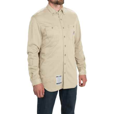 Carhartt Flame-Resistant Carhartt Force® Shirt - Long Sleeve (For Big and Tall Men) in Sand - 2nds