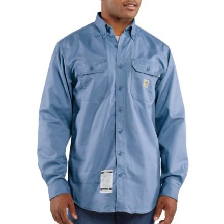 8796eca93af5 Carhartt Flame-Resistant Classic Twill Shirt - Long Sleeve