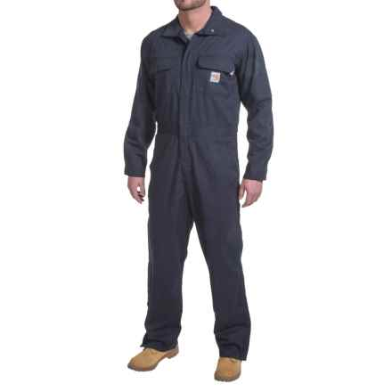 Carhartt Flame-Resistant Deluxe Coveralls - Factory Seconds (For Big and Tall Men) in Dark Navy - 2nds