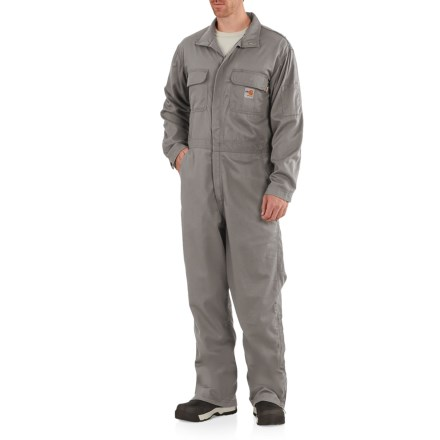3fa2fae13756 Carhartt Flame-Resistant Deluxe Coveralls - Factory Seconds (For Men) in  Gray -