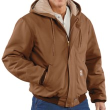 Carhartt Flame-Resistant Duck Active Jacket - Quilt-Lined (For Men) in Carhartt Brown - Closeouts