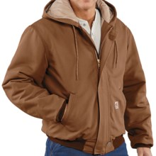 Carhartt Flame-Resistant Duck Active Jacket - Quilt-Lined (For Tall Men) in Carhartt Brown - Closeouts