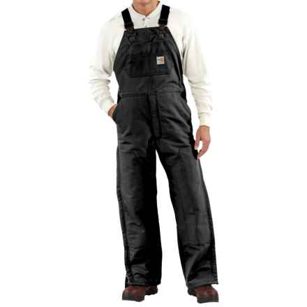 Carhartt Flame-Resistant Duck Bib Overalls - Quilt Lined, Factory Seconds (For Men) in Black - 2nds