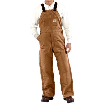 Carhartt Flame-Resistant Duck Bib Overalls - Quilt Lined, Factory Seconds (For Men) in Carhartt Brown - 2nds