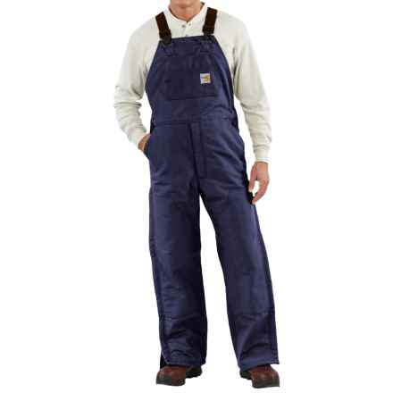 Carhartt Flame-Resistant Duck Bib Overalls - Quilt Lined, Factory Seconds (For Men) in Dark Navy - 2nds