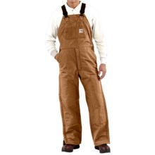 Carhartt Flame-Resistant Duck Bib Overalls - Quilt Lined (For Men) in Carhartt Brown - 2nds