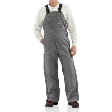 Carhartt Flame-Resistant Duck Bib Overalls - Quilt Lined (For Men) in Steel - Closeouts