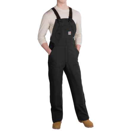 Carhartt Flame-Resistant Duck Bib Overalls - Unlined (For Men) in Black - 2nds