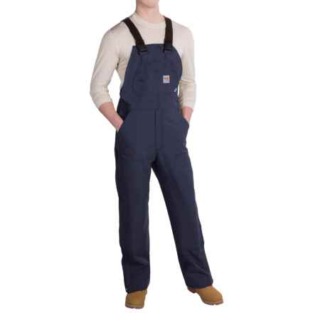Carhartt Flame-Resistant Duck Bib Overalls - Unlined (For Men) in Dark Navy - 2nds