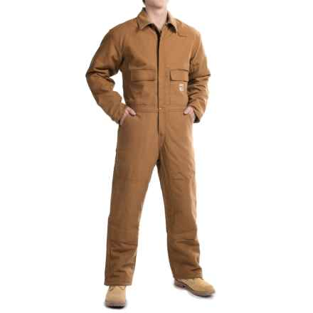 Carhartt Flame-Resistant Duck Coveralls - Insulated (For Big and Tall Men) in Carhartt Brown - 2nds