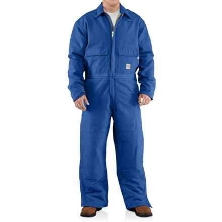 Carhartt Flame-Resistant Duck Coveralls - Insulated (For Big and Tall Men) in Royal - Closeouts