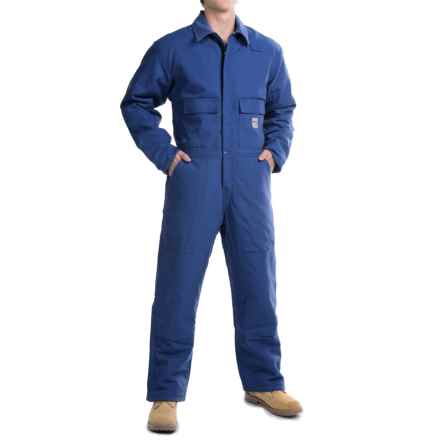 Carhartt Flame-Resistant Duck Coveralls - Insulated (For Big and Tall Men) in Royal - 2nds