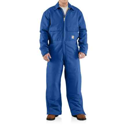 Carhartt Flame-Resistant Duck Coveralls - Insulated (For Men) in Royal - Closeouts