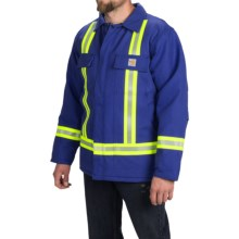 Carhartt Flame-Resistant Duck Traditional Coat - Insulated (For Big and Tall Men) in Royal - 2nds