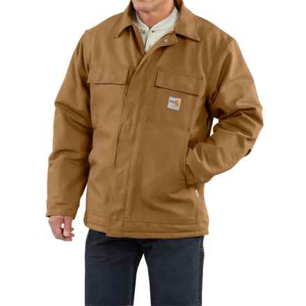 Carhartt Flame-Resistant Duck Traditional Coat - Quilt-Lined, Factory Seconds (For Big and Tall Men) in Carhartt Brown - 2nds
