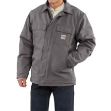 Carhartt Flame Resistant Duck Traditional Coat - Quilt-Lined (For Big and Tall Men) in Steel - 2nds