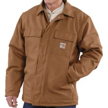 Carhartt Flame-Resistant Duck Traditional Coat - Quilt-Lined (For Men) in Carhartt Brown - 2nds