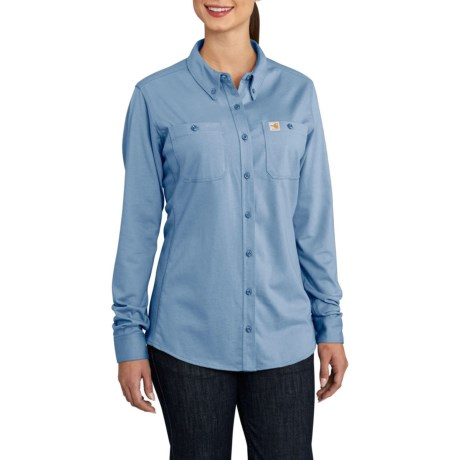 7a79a968140 Carhartt Flame-Resistant Force® Cotton Hybrid Shirt - Long Sleeve