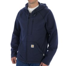 Carhartt Flame-Resistant Force Fleece Hooded Sweatshirt - Rugged Flex (For Men) in Dark Navy - 2nds