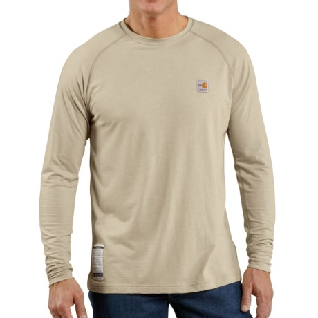 Carhartt Flame-Resistant Force® T-Shirt - Long Sleeve (For Big and Tall Men) in Sand