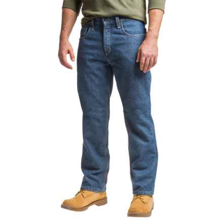 Carhartt Flame-Resistant Lined Utility Denim Jeans - Relaxed Fit (For Men) in Midstone - Closeouts