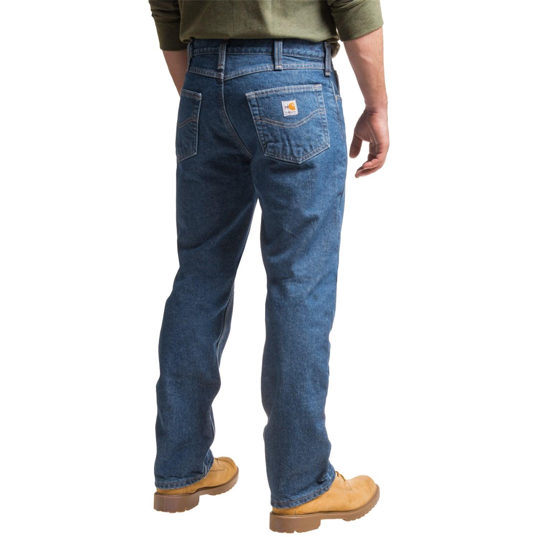 carhartt flame resistant lined utility denim jeans for men. Black Bedroom Furniture Sets. Home Design Ideas