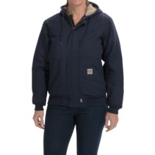 Carhartt Flame-Resistant Midweight Canvas Active Jacket - Quilt Lined (For Women) in Dark Navy - 2nds