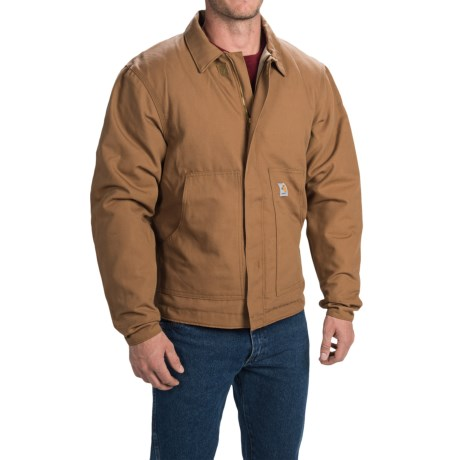 Carhartt Flame Resistant Midweight Canvas Dearborn Jacket Quilt Lined (For Men)