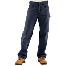 Carhartt Flame-Resistant Midweight Canvas Jeans - Loose Fit (For Men) in Dark Navy - 2nds