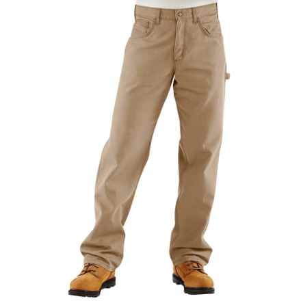 Carhartt Flame-Resistant Midweight Canvas Jeans - Loose Fit (For Men) in Golden Khaki - 2nds