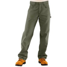 Carhartt Flame-Resistant Midweight Canvas Jeans - Loose Fit (For Men) in Moss - 2nds